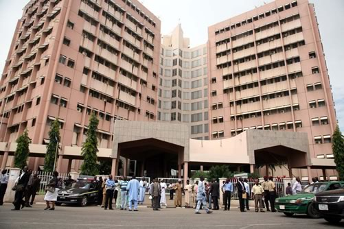 Workers at the Federal Secretariat Abuja