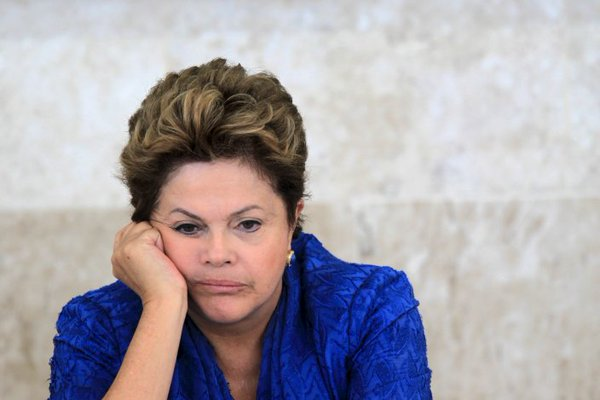 President Rousseff: she will be ousted today