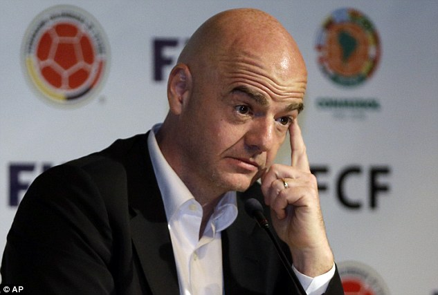 Infantino: not rattled by Swiss police raid of UEFA office