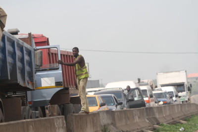Another section of the traffic jam. Photo Credit:  Idowu Ogunle