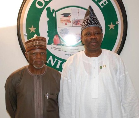 Hameed Ali, Amosun during the visit