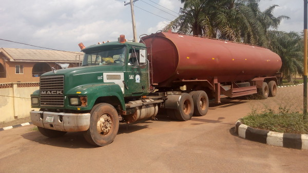 One of the arrested petrol trucks