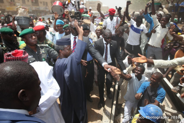 Part of the crowd that received Osinbajo