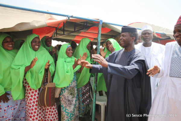 Osinbajo at the opening of vocational training for women