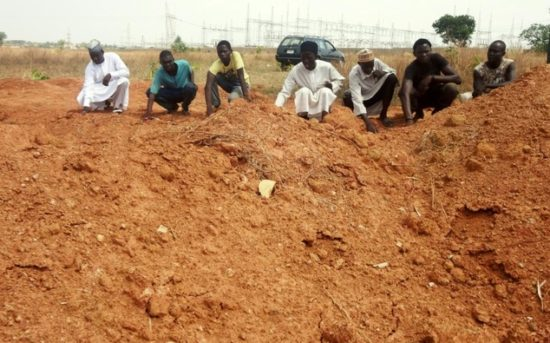 Shiites at the mass grave for members killed by Nigeria's military