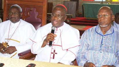 Methodist Prelate, Uche (middle)with other church leaders