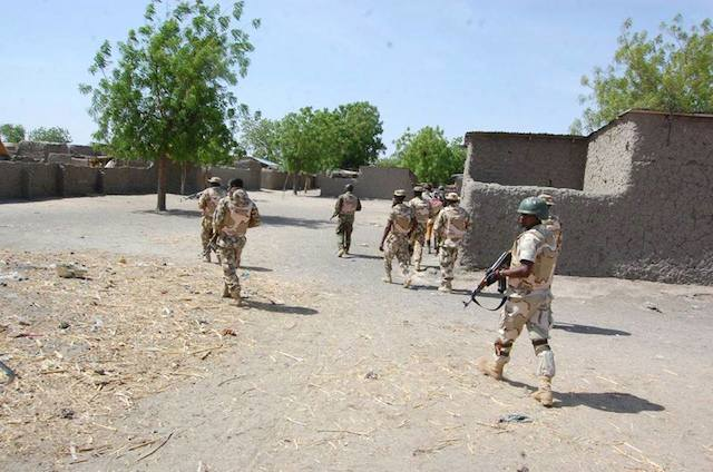Troops on clearance operations