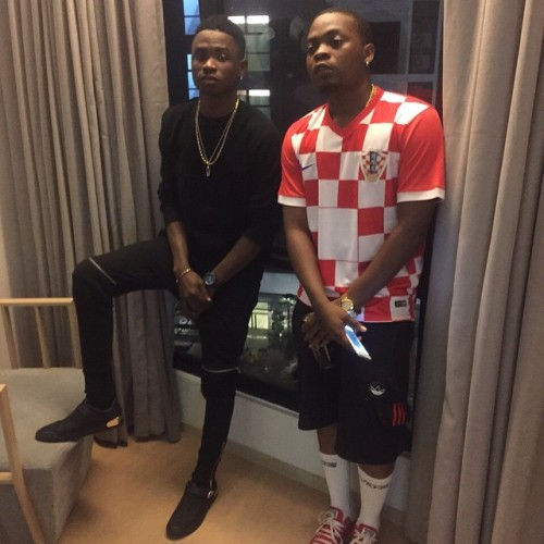 Olamide, right and Lil Kesh: they are still family despite rumours