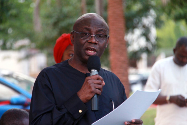 Pastor Tunde Bakare speaks at the event