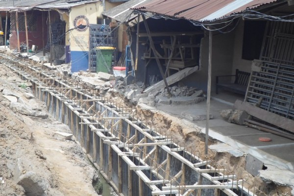 Removal of illegal structures and drainage construction on Durojaiye Street