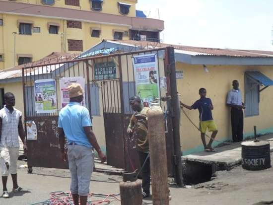 One of the gates being removed at Ajeromi-Ifelodun