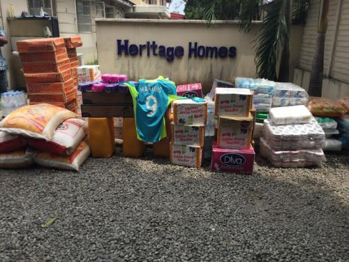 Some of the items donated by Obafemi Martins