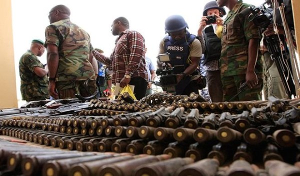 Some of the ammo impounded from Boko Haram