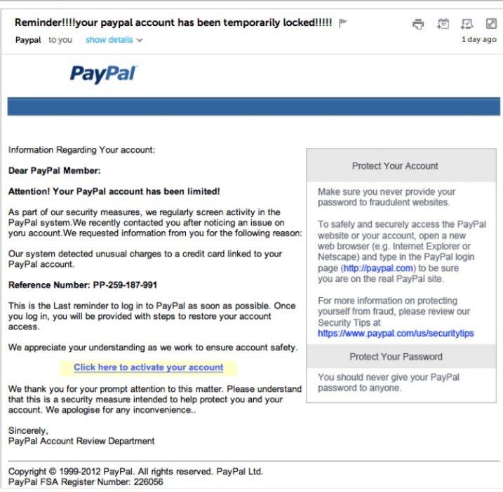 aolmail refresh scam email