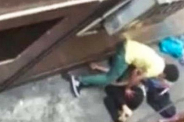 The brutal scene in China captured on film by a bystander who failed to help the victim