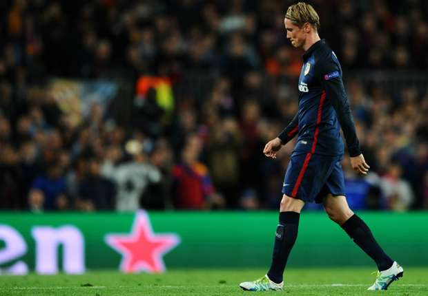 Torres leaving the match