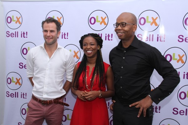 L-R: Daan Sanders, CEO Middle East & Africa, OLX, Lola Masha, Country Manager, OLX and Uzoma Dozie, CEO Diamond Bank at the launch of OLX Do It For Me on Diamond's TV Tech Turks in Lagos