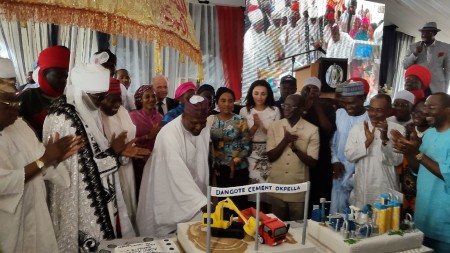 Dangote, Oshiomhole and others at the ceremony