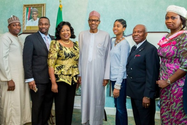 Buhari with the 5 special Nigerians
