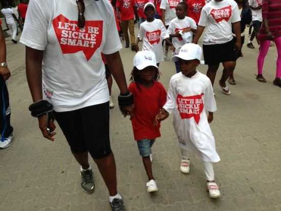 A sickle cell awareness campaign in Lagos