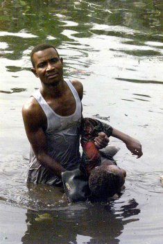 Flashback 2002: a man pulls out a body from the Oke Afa Canal. Ajayi's body yet to be recovered