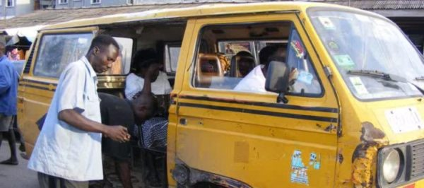 an old bus on Lagos road