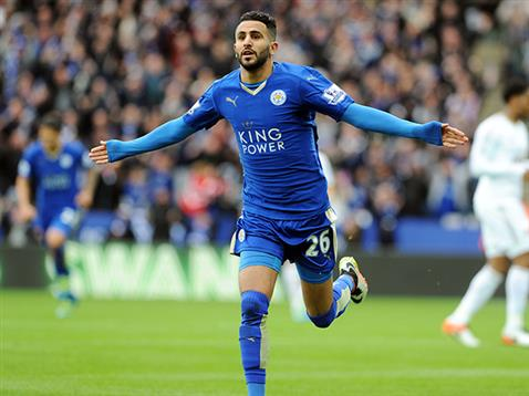 Mahrez: opened scoring for Leicester
