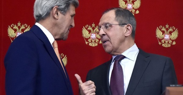 US Secretary of  State, John Kerry and Russian Foreign Minister Sergei Lavrov