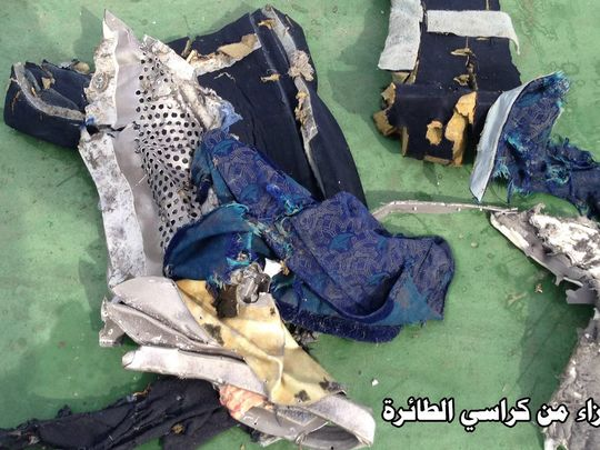 A seat from the crashed EgyptAir plane