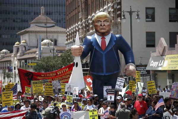 Anti-Trump protests on May Day