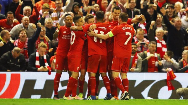 Liverpool players: to battle Sevilla for Europa League cup