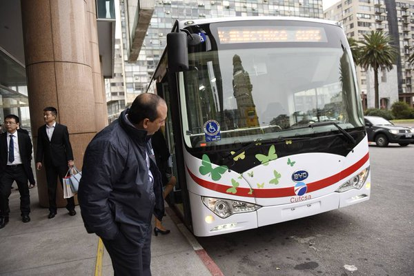 China made electric bus in Montevideo