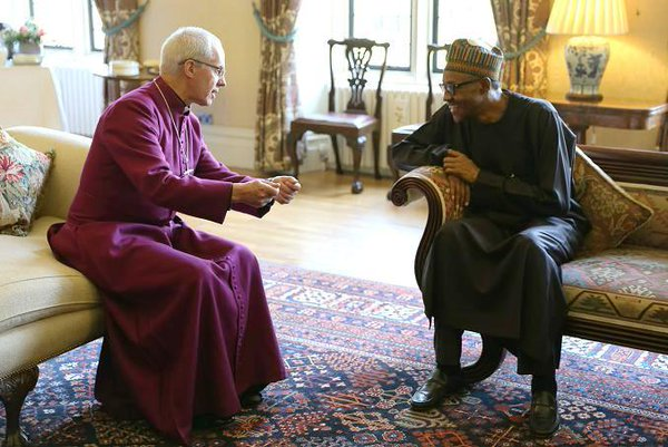 Buhari in a discussion with Welby