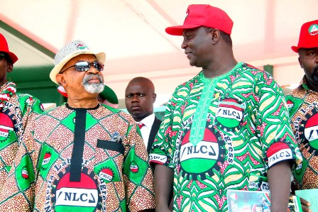 Dr Chris Ngige minister for Labour and NLC president Ayuba Wabba at the May aday celebration at the eagle Square in Abuja. Photos: Femi Ipaye