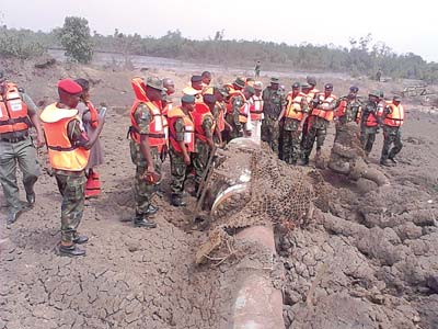 a gas pipeline breached in Niger Delta