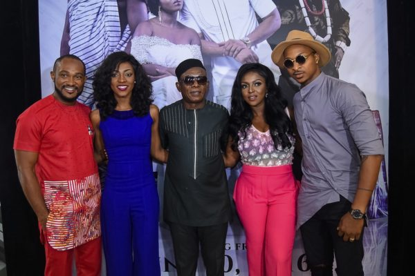 Nkem Owoh centre and others at the screening