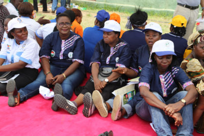 Workers waiting under the sun for  Governor AKinwumi Ambode