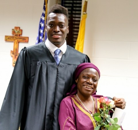 Michael Tertsea, 14, and his mother from Nigeria. Photo credit: Washington Post