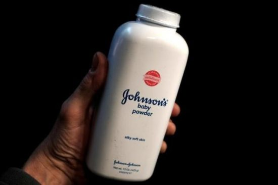 A bottle of Johnson and Johnson Baby Powder . Reuters Photo