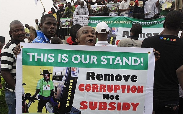 Petrol subsidy protest in 2012