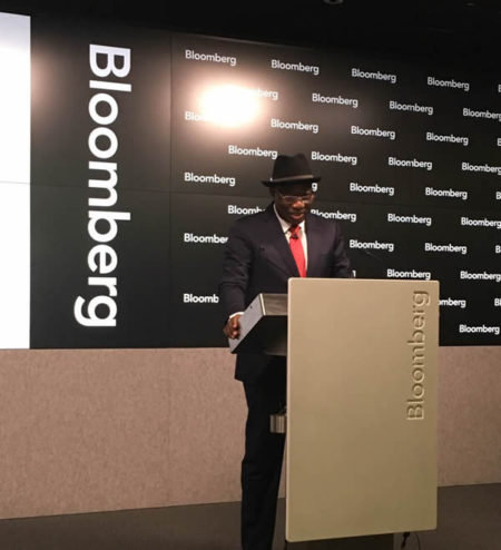 Jonathan at the Bloomberg TV lecture