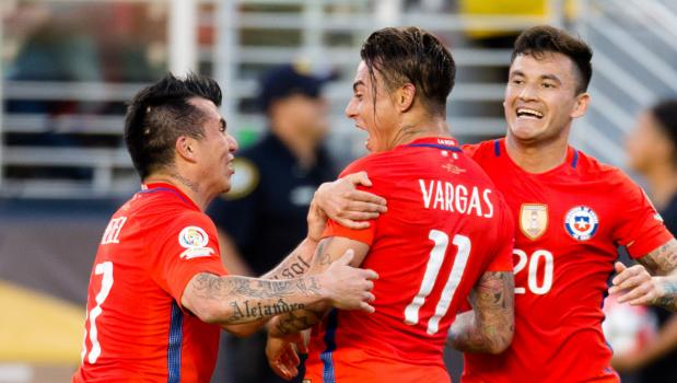 Four-goal king Vargas with other team mates