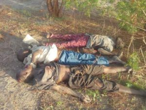 Corpses of the kidnappers