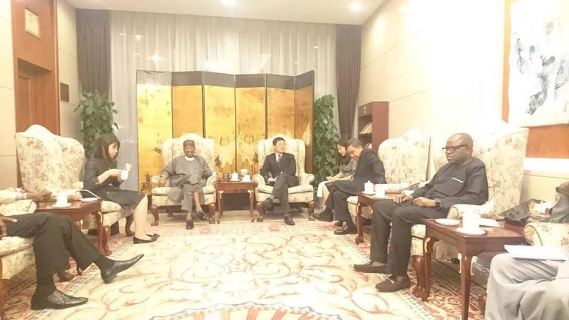 Lai Mohammed (centre, left) in China for 3rd Forum on Africa-China media
