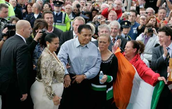 Muhammed Ali during his visit to Ireland in 2009