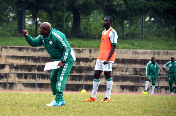 Keshi hollers command to the Super Eagles, after all he was the Big Boss. Photo Femi Ipaye