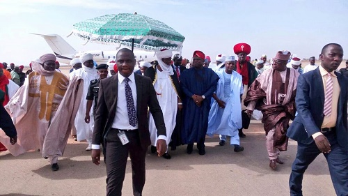 Reception for Ambode at Kebbi International airport today