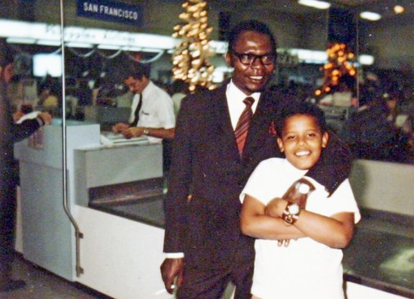 Barack Obama with his father, Barack Obama Sr., in an undated family photo from the 1960s released by Mr. Obama's presidential campaign. Credit Obama for America. Credit: New York Times