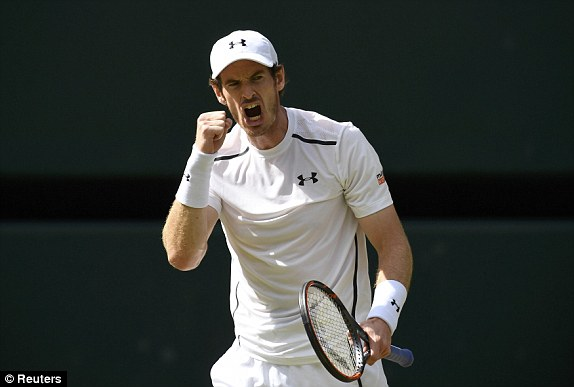 Andy Murray: lifts second Wimbledon trophy