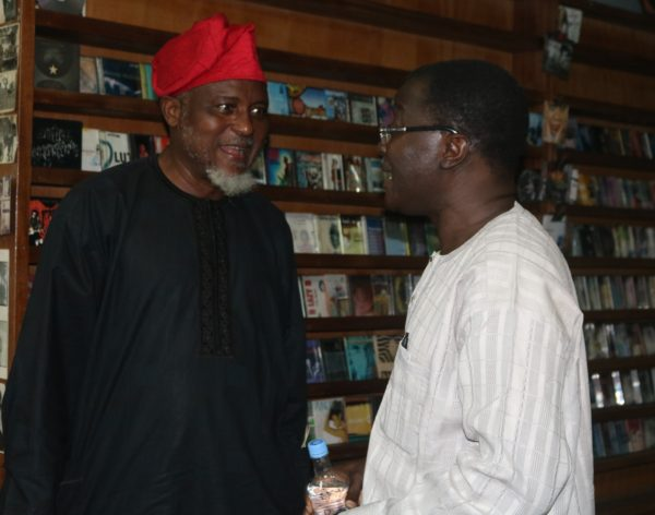 At the Book Reading - Mr. Tunde Fagbenle and Mr. Kunle Ajibade of TheNEWS